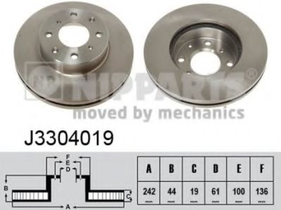 Тормозной диск  арт. J3304019