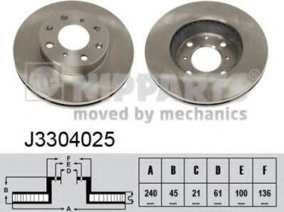 Тормозной диск  арт. J3304025