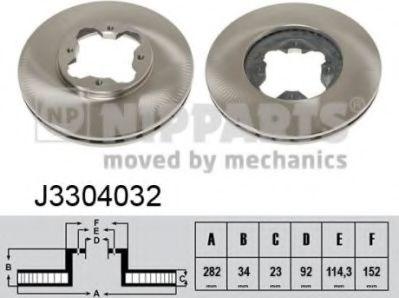 Тормозной диск  арт. J3304032