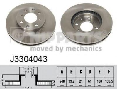 Тормозной диск  арт. J3304043