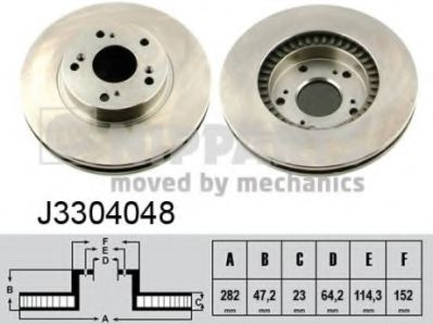 Тормозной диск  арт. J3304048