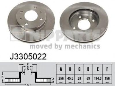Тормозной диск NIPPARTS J3305022