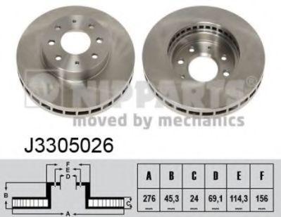 Тормозной диск NIPPARTS J3305026