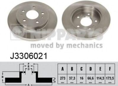 Тормозной диск  арт. J3306021
