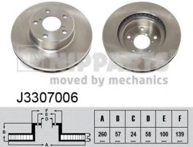 Тормозной диск NIPPARTS J3307006