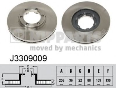 Тормозной диск  арт. J3309009