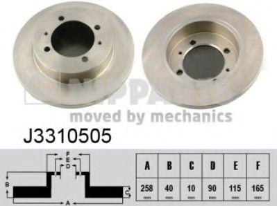 Тормозной диск  арт. J3310505
