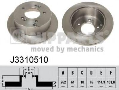 Тормозной диск  арт. J3310510