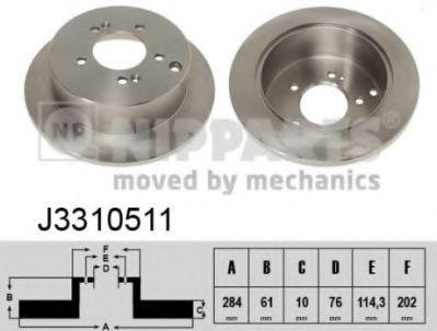 Тормозной диск  арт. J3310511