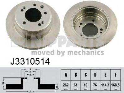 Тормозной диск  арт. J3310514