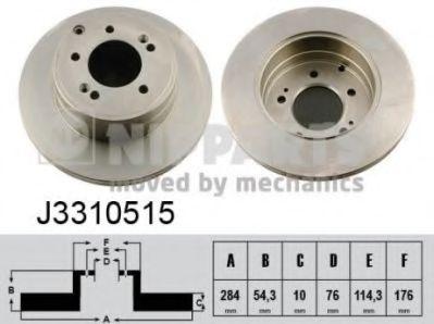 Тормозной диск  арт. J3310515