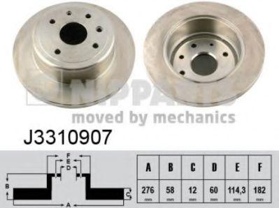 Тормозной диск  арт. J3310907