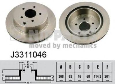 Тормозной диск  арт. J3311046
