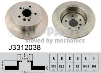 Тормозной диск  арт. J3312038