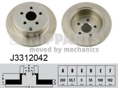 Тормозной диск NIPPARTS J3312042