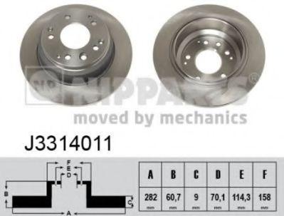 Тормозной диск  арт. J3314011