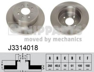 Тормозной диск NIPPARTS J3314018