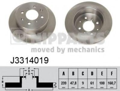 Тормозной диск  арт. J3314019