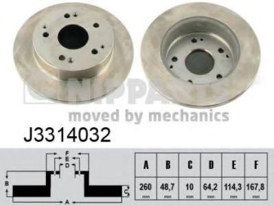 Тормозной диск  арт. J3314032