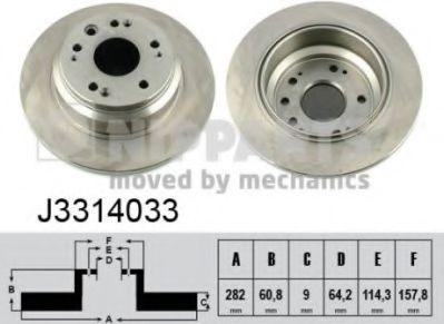 Тормозной диск  арт. J3314033