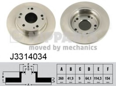 Тормозной диск  арт. J3314034
