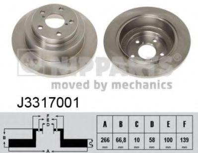 Тормозной диск NIPPARTS J3317001
