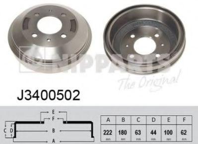 Тормозной барабан NIPPARTS J3400502