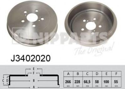 Тормозной барабан NIPPARTS J3402020