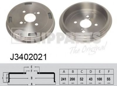 Тормозной барабан NIPPARTS J3402021