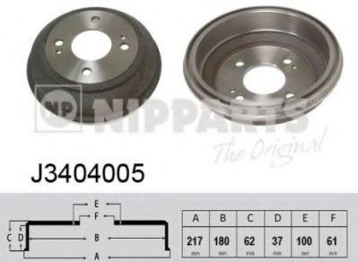 Тормозной барабан NIPPARTS J3404005