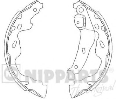 Тормозные колодки барабанные NIPPARTS J3502082