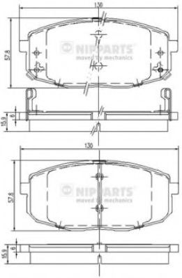 Тормозные колодки дисковые NIPPARTS J3600319