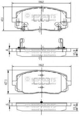Тормозные колодки, к-кт.  арт. J3600323
