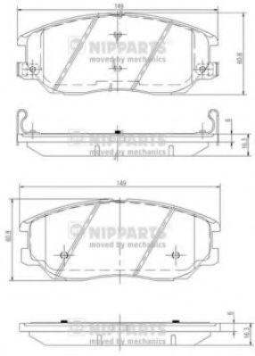 Комплект тормозных колодок  арт. J3600327