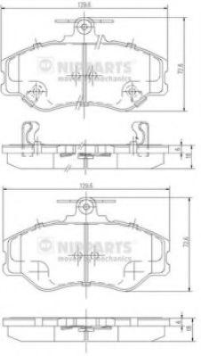 Тормозные колодки, к-кт.  арт. J3600513