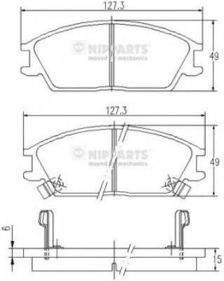 Комплект тормозных колодок  арт. J3600515