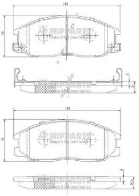 Тормозные колодки, к-кт.  арт. J3600526