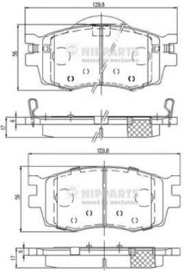 Тормозные колодки, к-кт.  арт. J3600542