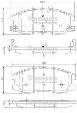 Комплект тормозных колодок  арт. J3600913
