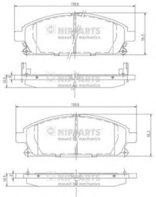 Комплект тормозных колодок  арт. J3601071
