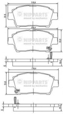 Тормозные колодки дисковые NIPPARTS J3602088