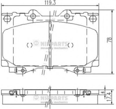 Тормозные колодки дисковые NIPPARTS J3602097