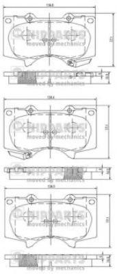 Тормозные колодки дисковые NIPPARTS J3602109