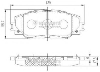 Тормозные колодки дисковые NIPPARTS J3602120