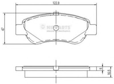 Комплект тормозных колодок  арт. J3602122