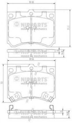 Тормозные колодки дисковые NIPPARTS J3603035