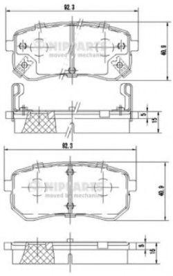 Тормозные колодки, к-кт.  арт. J3610307
