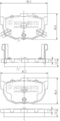 Комплект тормозных колодок  арт. J3610505