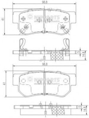 Тормозные колодки дисковые NIPPARTS J3610509