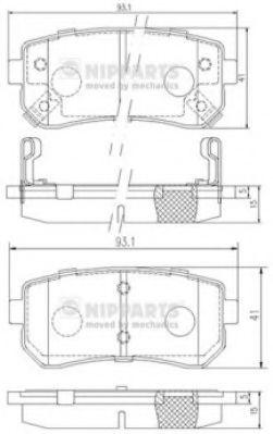 Тормозные колодки, к-кт.  арт. J3610512